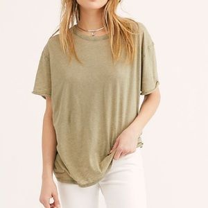 Free People Oversized Clarity Ringer Tee Sz Med